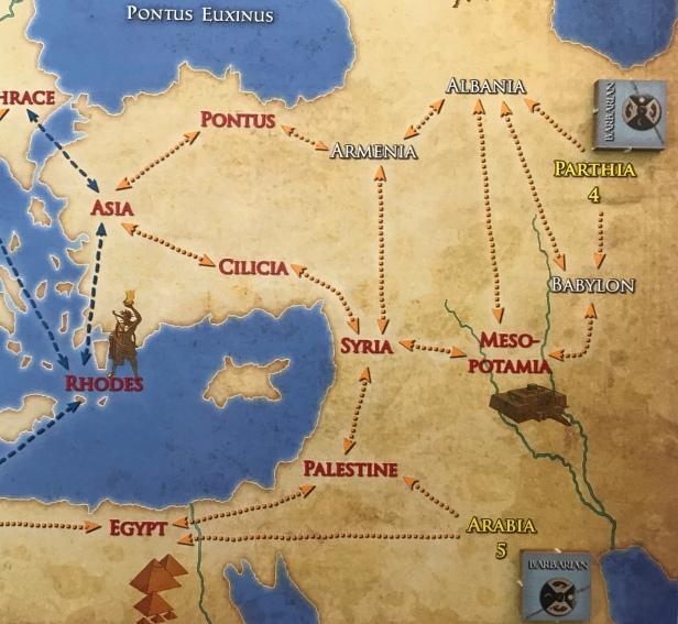 Solitaire Caesar Parthia Arabia Wild Provinces