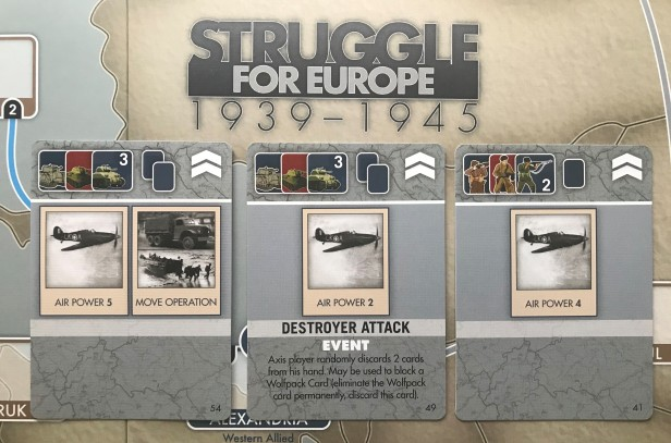 Struggle for Europe Card Examples