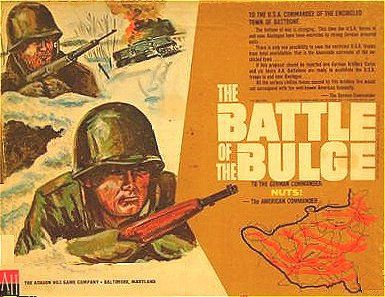 The Battle of the Bulge Avalon Hill 1965 Cover