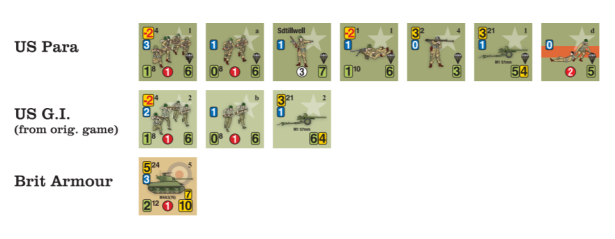 The Last Hundred American Airborne Unit Counters