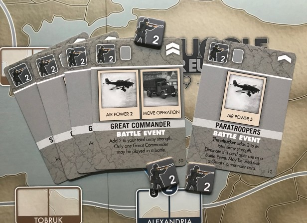 Struggle for Europe 2 Strength Army Counters Battle Events