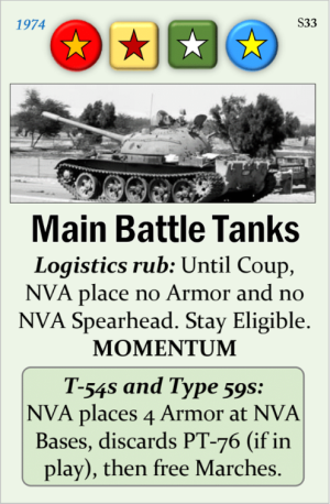 Fall of Saigon Event Card Spoiler Main Battle Tanks