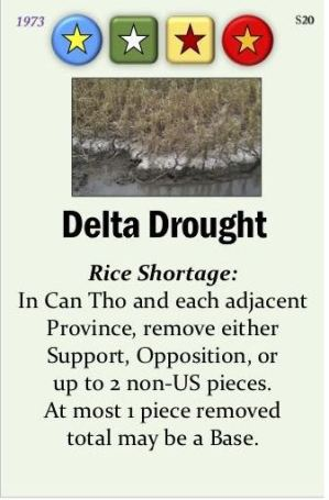 Fall of Saigon Event Card Spoilers Delta Drought