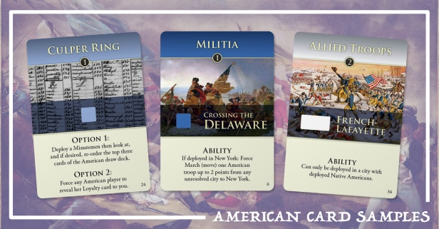 Hidden Strike American Revolution American Cards