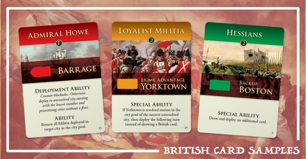 Hidden Strike American Revolution British Cards