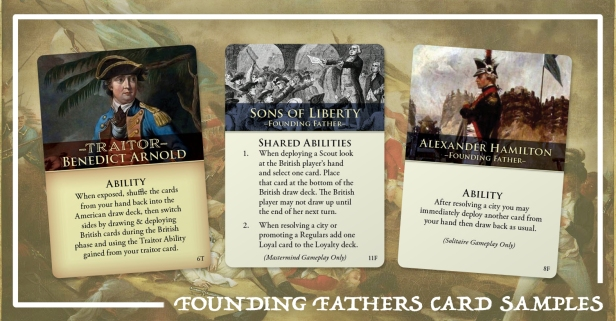 Hidden Strike American Revolution Founding Fathers Cards