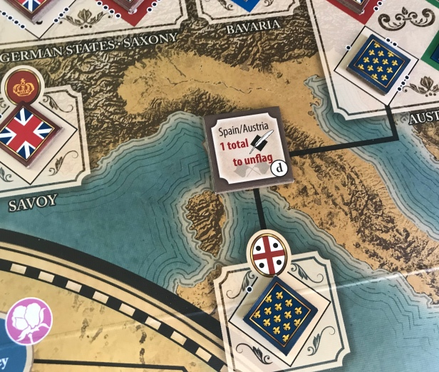 Imperial Struggle Advantage Tile Example Italy Influence