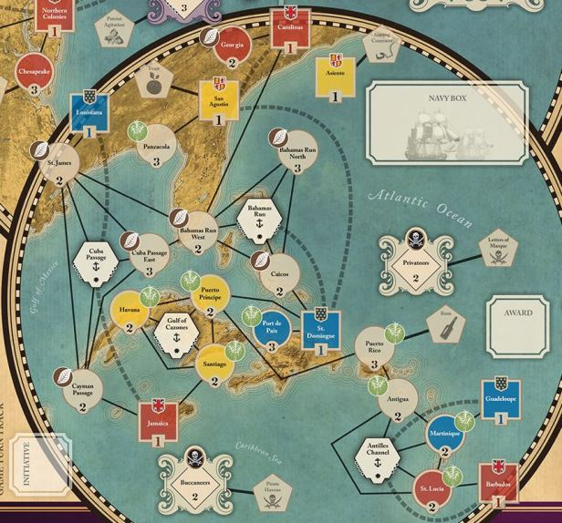 Imperial Struggle Map Caribbean