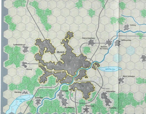 Objective Munich Map Closeup - Munich