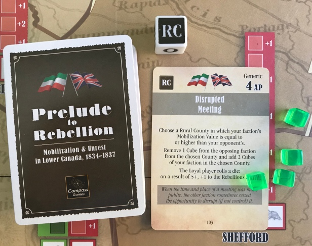 Prelude to Rebellion Set Up Cards