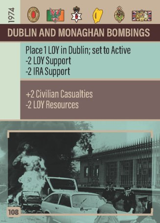 The Troubles - Dublin and Monaghan Bombings Event Card
